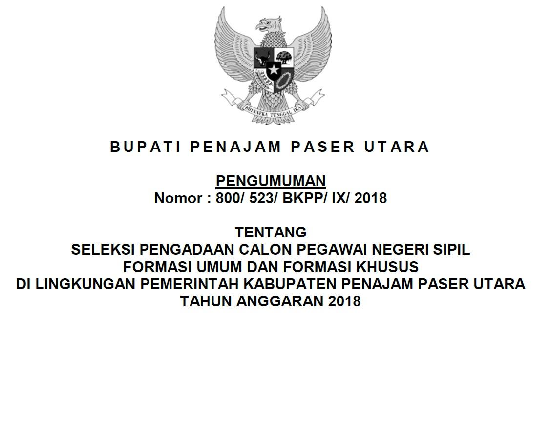 Bkpp Kabupaten Penajam Paser Utara Badan Kepegawaian Pendidikan